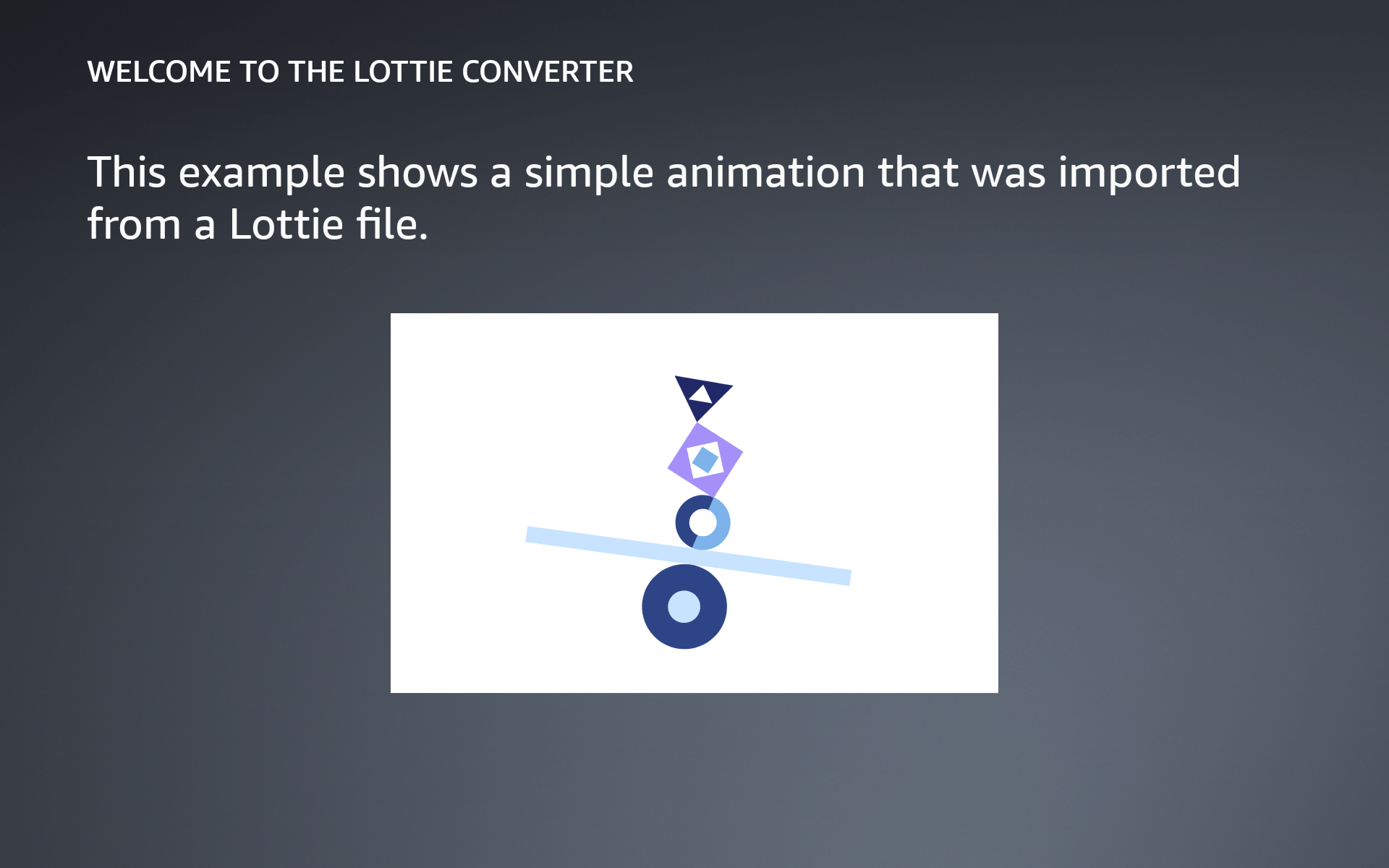 Example of a document that incorporates a Lottie animation