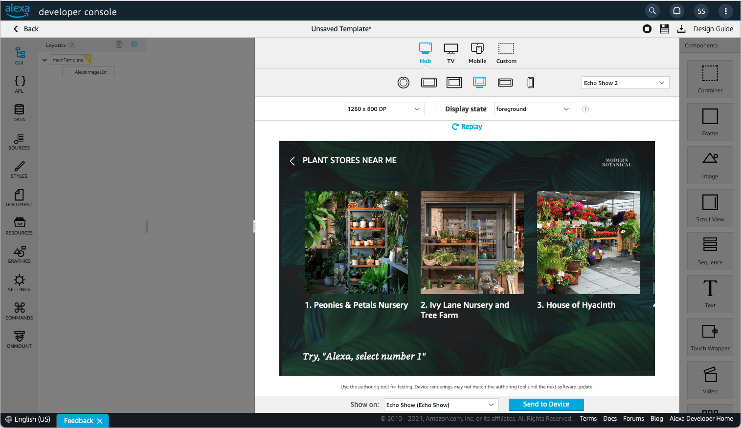 Displaying a document in preview mode