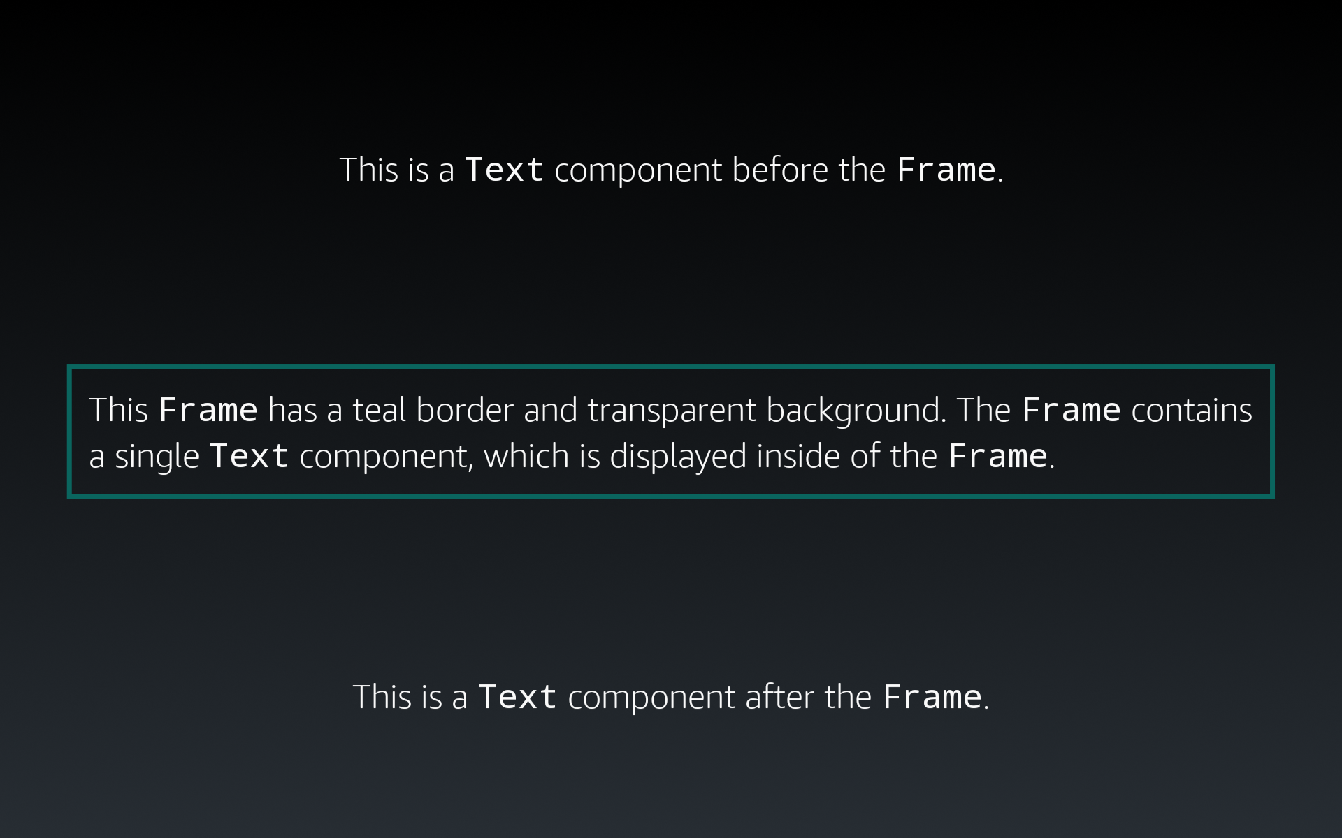 Display a border around a Text component