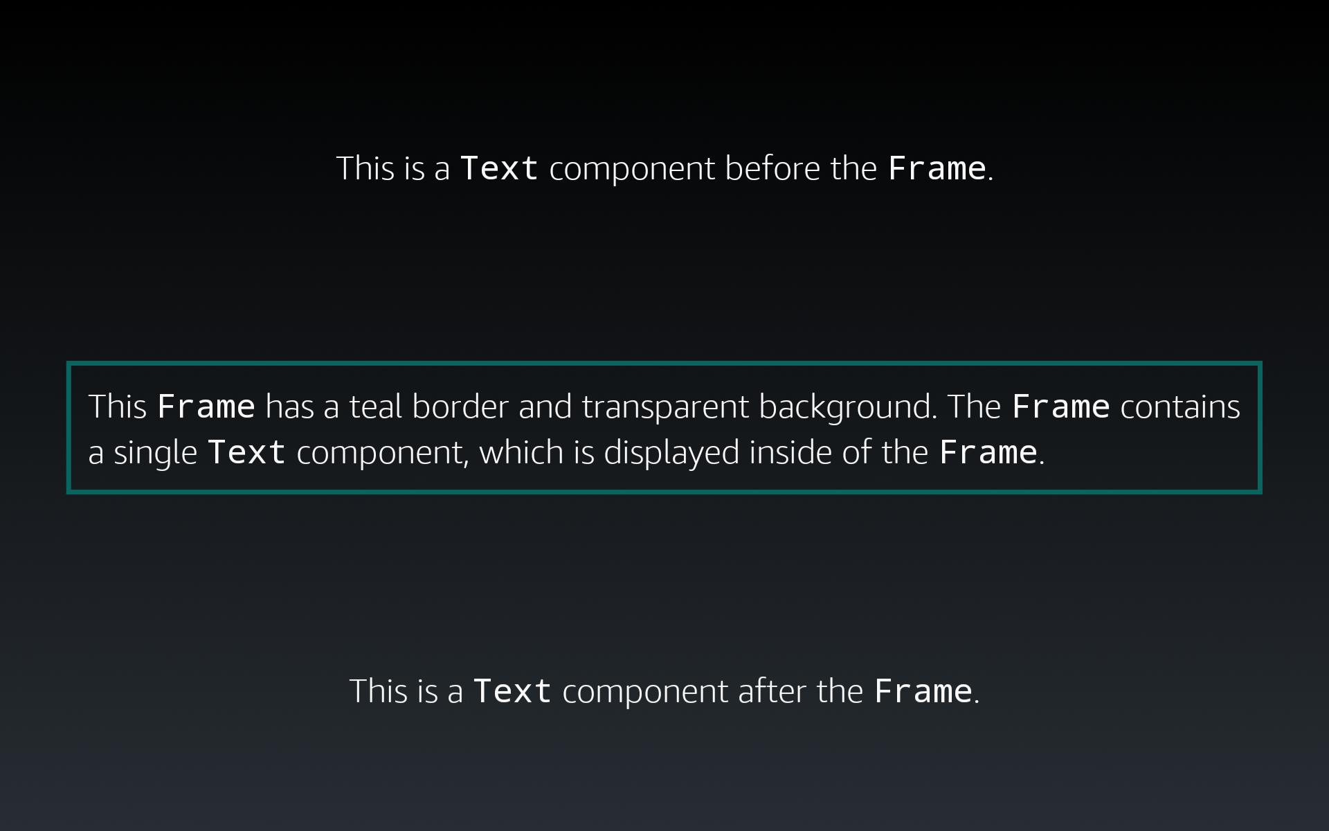 Textコンポーネントの周囲に表示される境界線