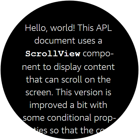 Padding and centering the text to fit better on a round viewport