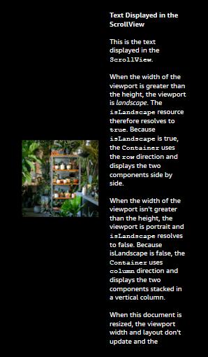 最初は横長で表示され、その後縦長viewportに合わせてサイズ変更されたドキュメント