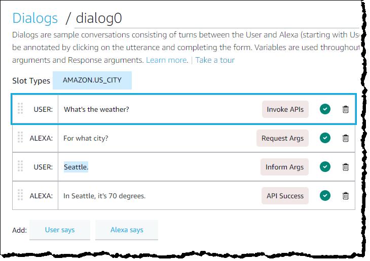 Fully configured dialog