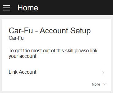 LinkAccountカードの例