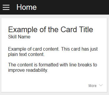 Simpleカードの例