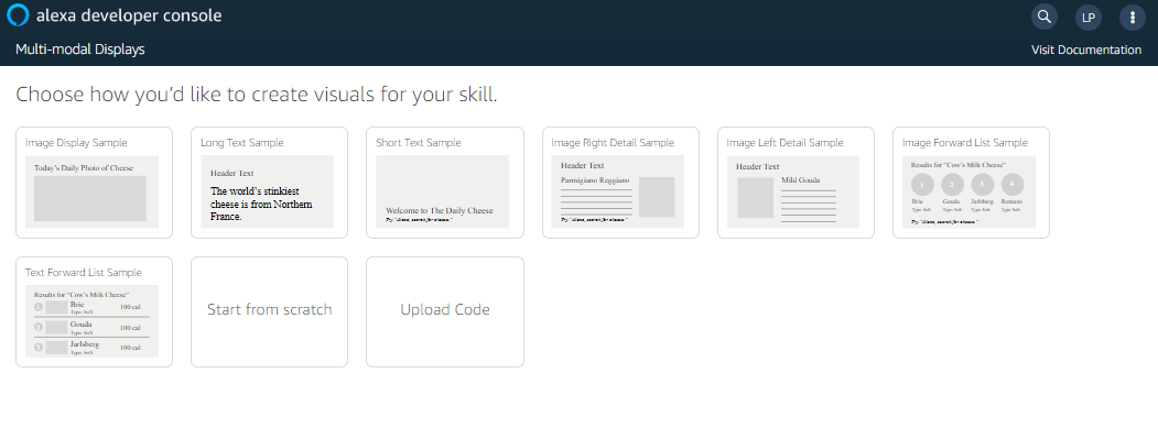 APL Authoring Tool: Choose Template