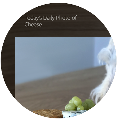 BodyTemplate7 on Echo Spot with a full-width foreground image