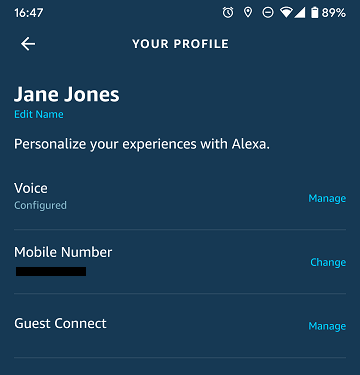 Personal profile example