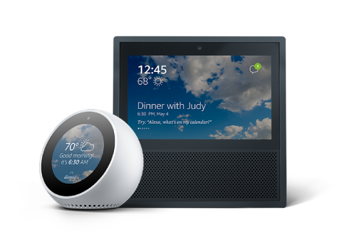 Some Alexa-enabled devices with a screen