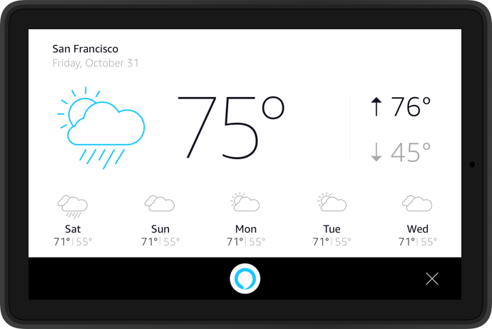 Alexa Display Cards for Tablet