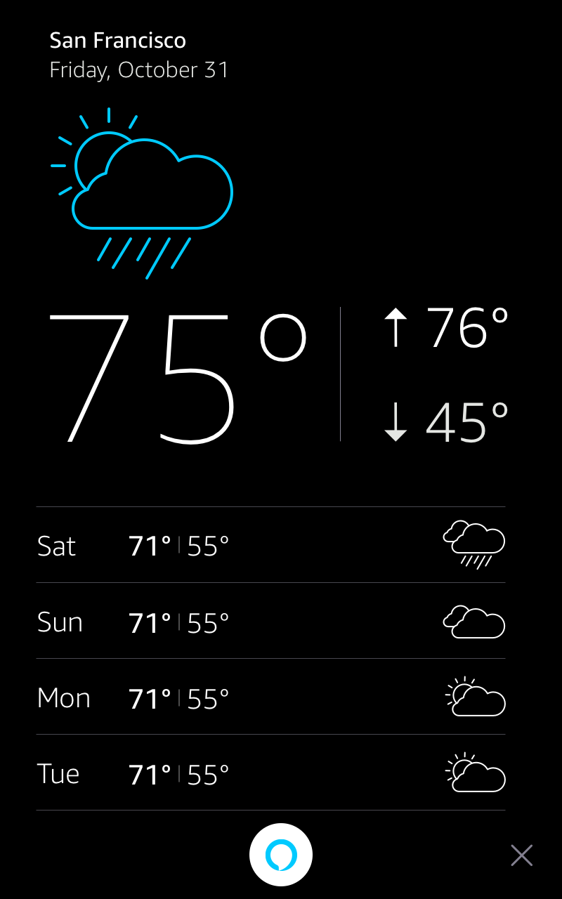 Display Card Portrait Mode: WeatherTemplate Night Mode