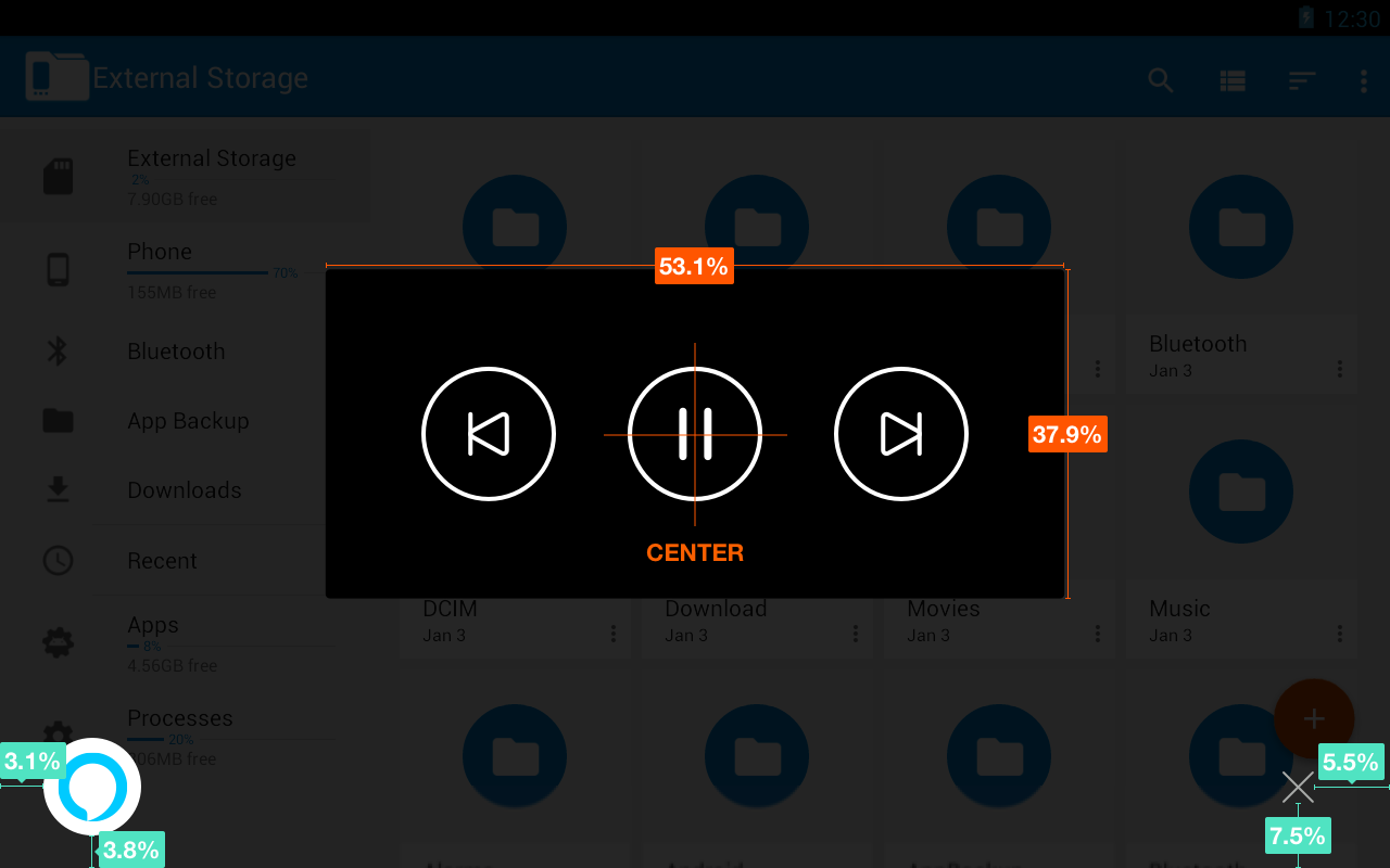 Display Cards for Tablet: NowPlaying Controls-Only Layout