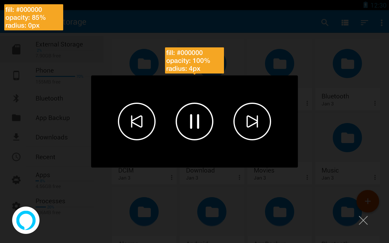 Display Cards for Tablet: NowPlaying Controls-Only Style