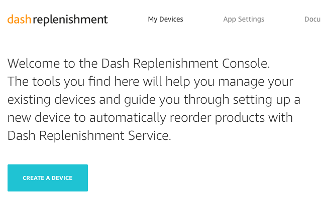 Set up a new device | Dash Replenishment Service