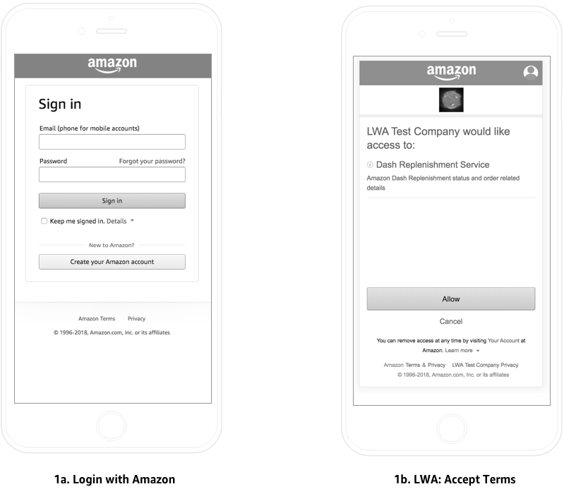 Examples of Login with Amazon