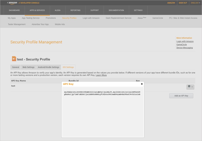 Use Login with Amazon SDK with iOS | Dash Replenishment Service