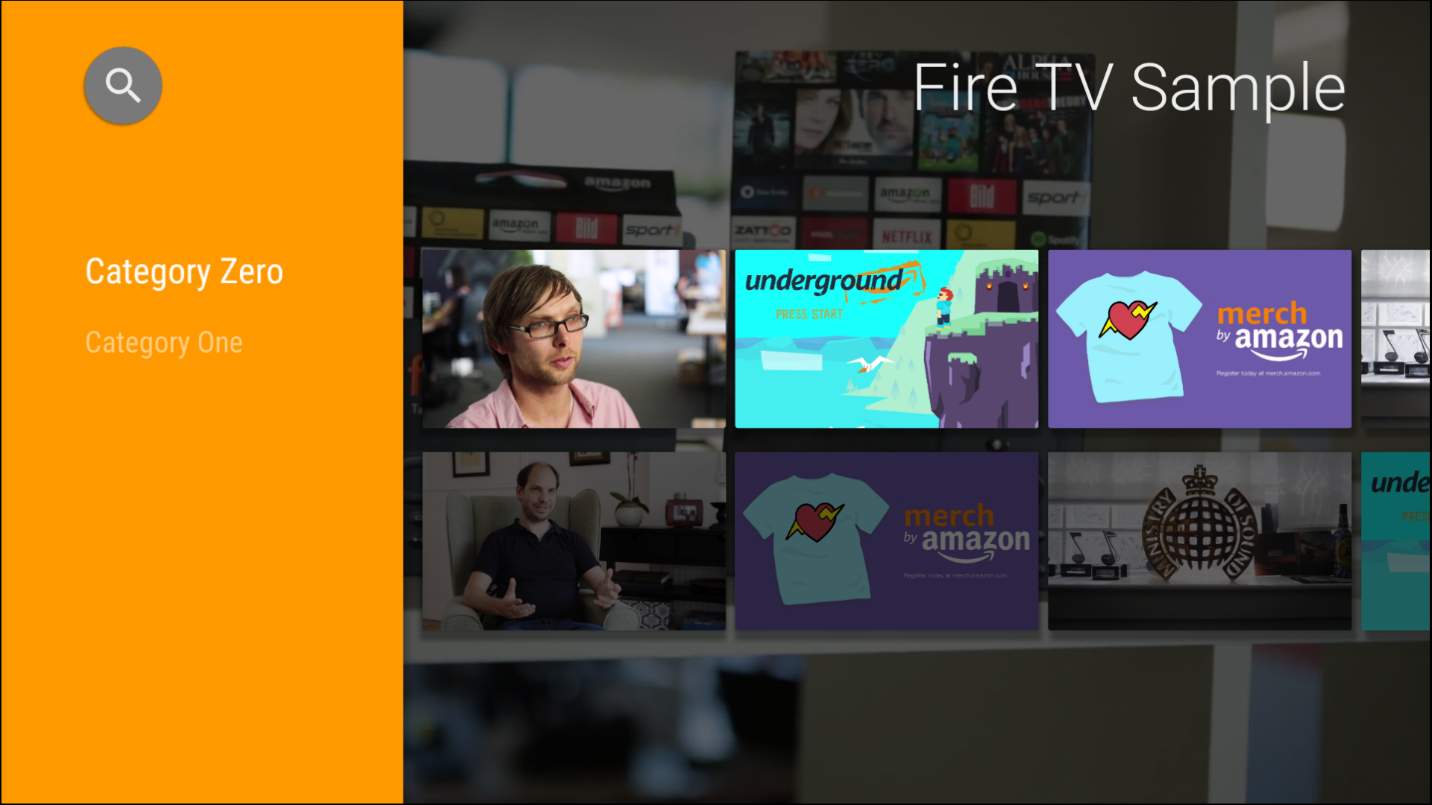 Your Fire TV app interface will look like this.