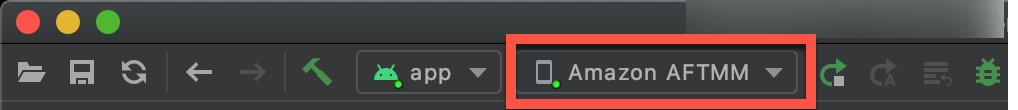What you should see if Android Studio connects to your device