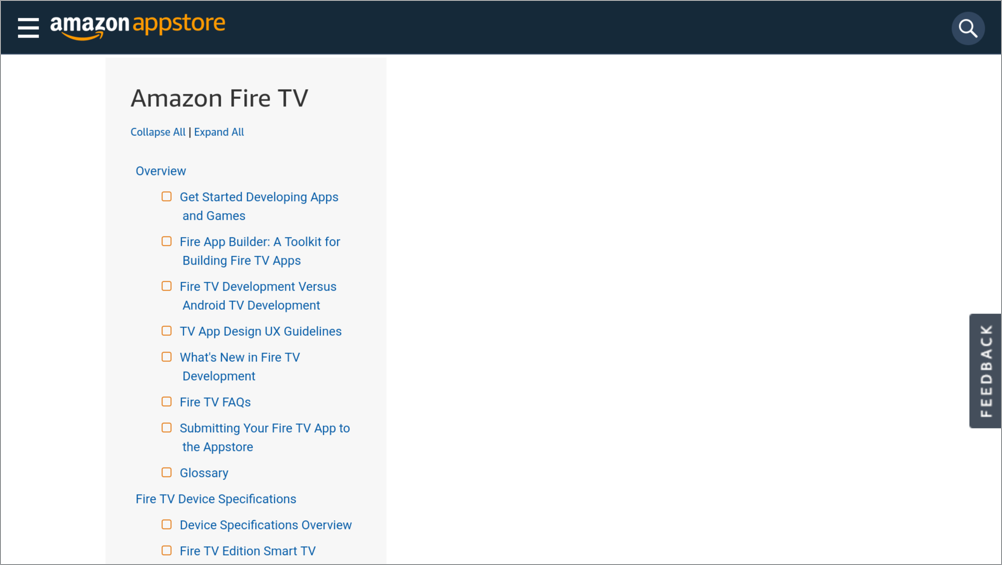 Amazon Fire TV site