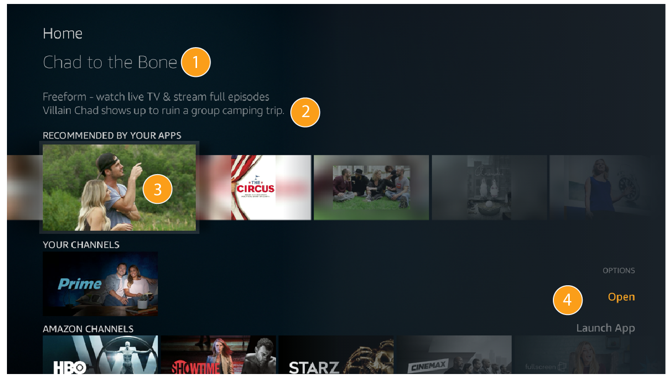 Send Recommendations that Include Amazon Extras | Amazon Fire TV