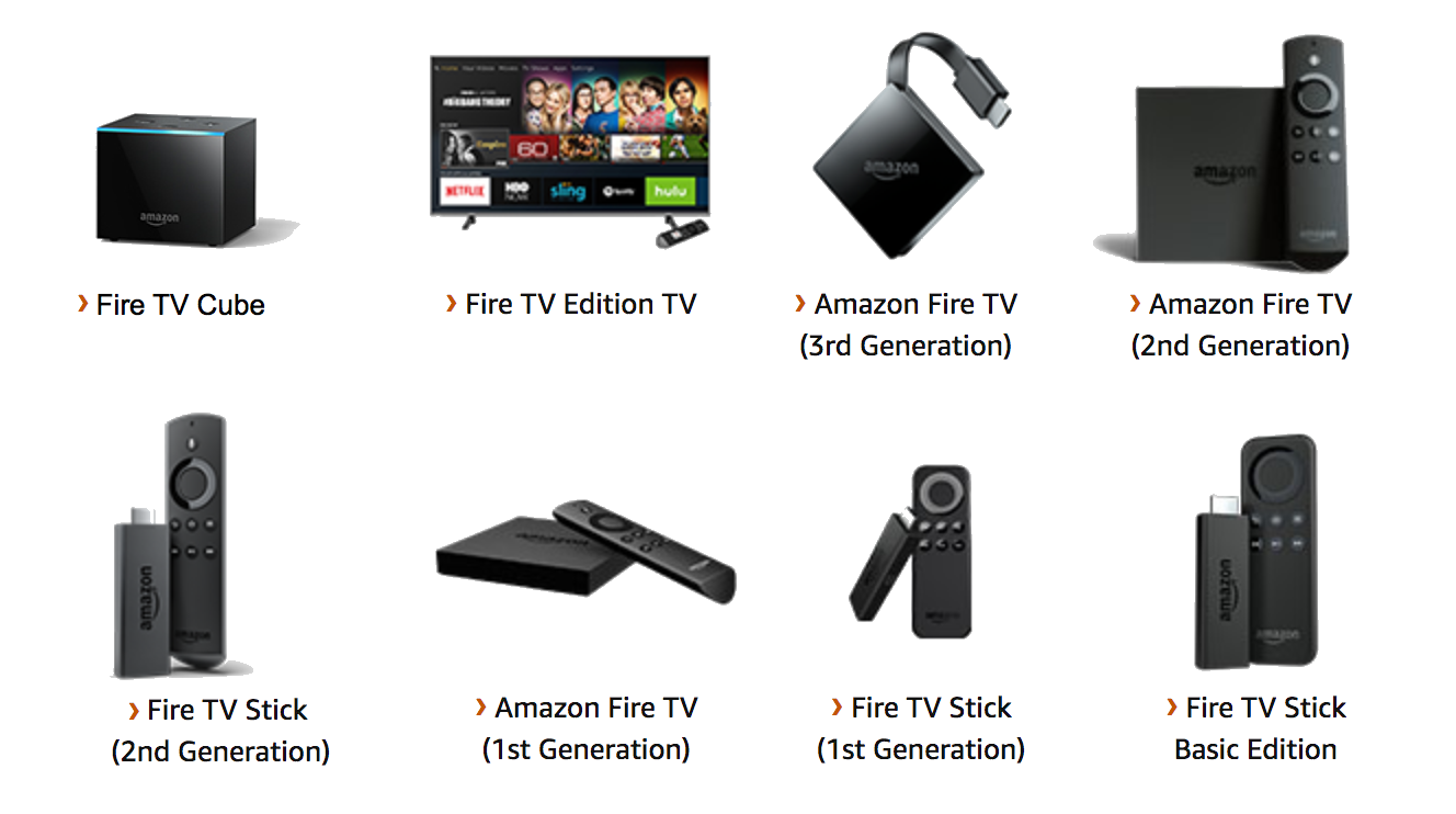 Amazon Fire TV device names