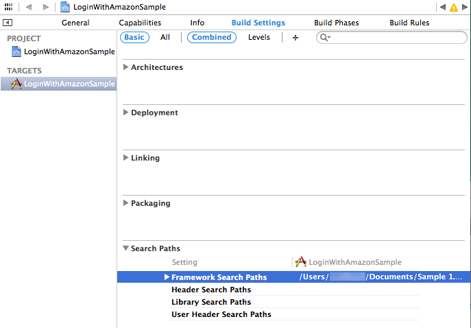 xcode header search paths