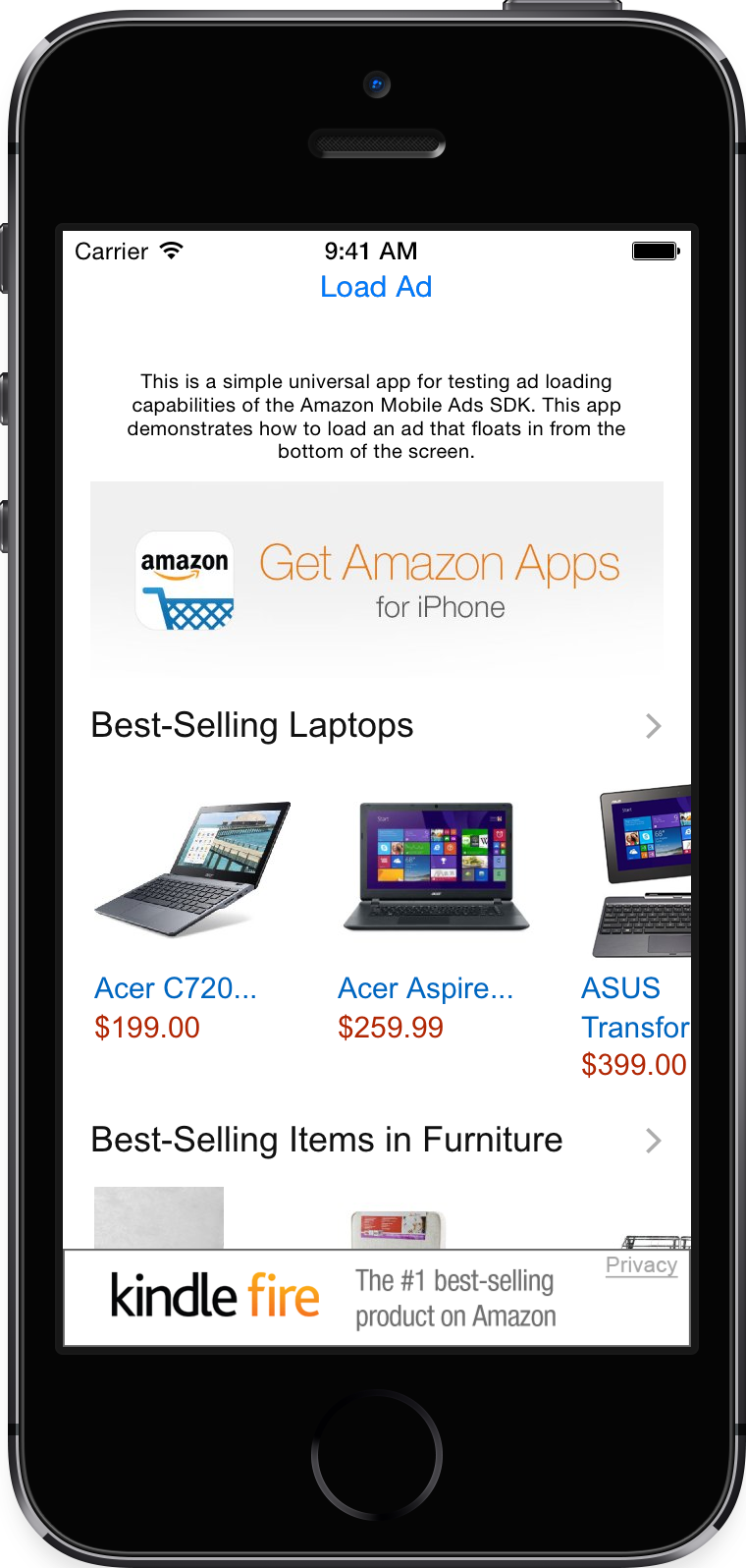 Amazon mobile app for iphone