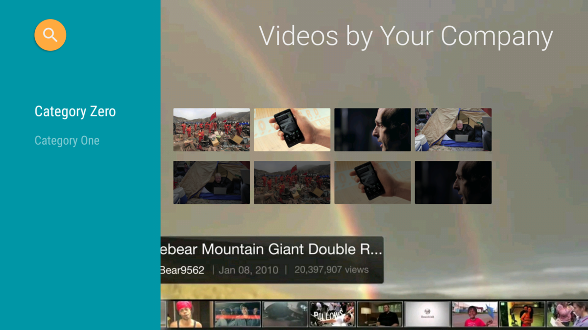Several common videos are integrated into the sample app.