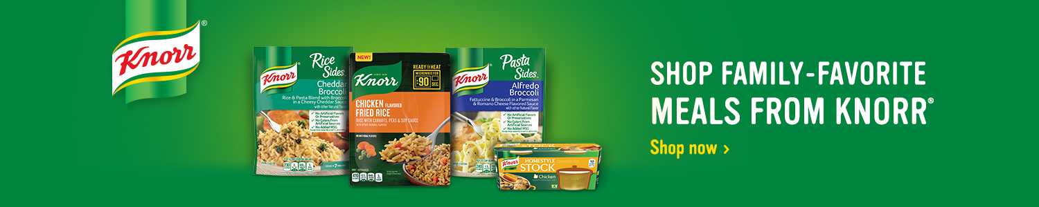 Shop family-favorite meals from Knorr
