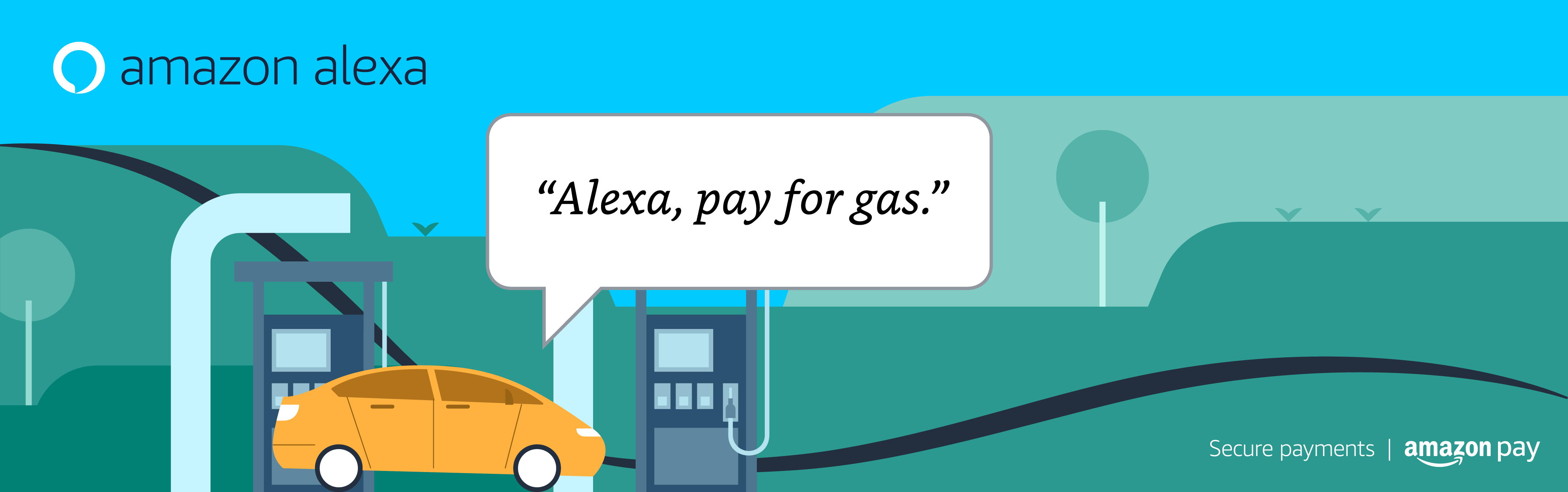 Alexa, pay for gas