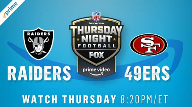 Prime tips for Raiders vs. 49ers on Thursday Night Football