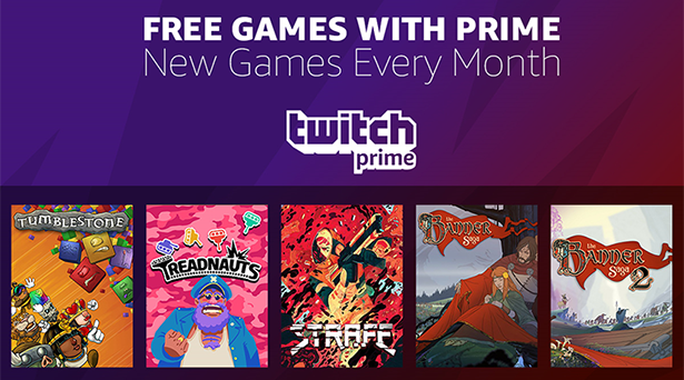 Prime members get 5 free games in June with Twitch Prime