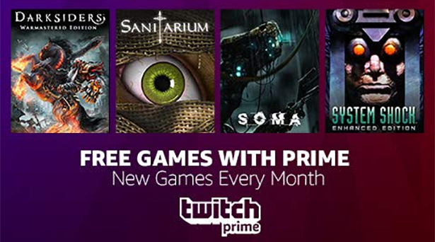Prime members get 4 free games in October with Twitch Prime