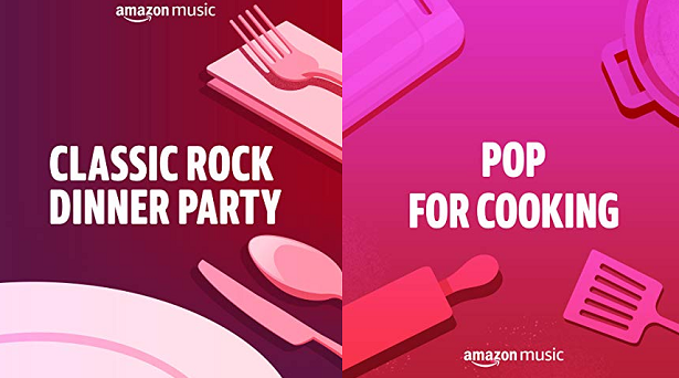 Playlists for cooking on Amazon Music