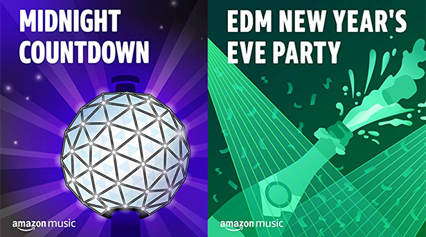 New Year's Eve playlists on Amazon Music