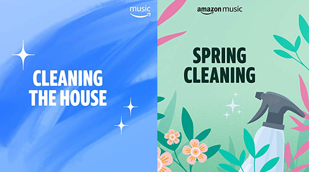 Spring cleaning playlists on Amazon Music