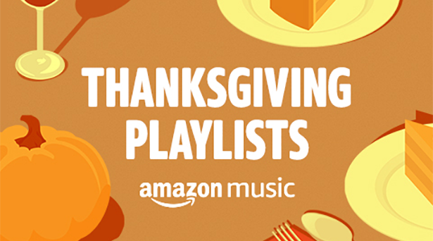 Thanksgiving playlists on Amazon Music