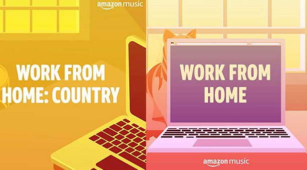 Playlists for working from home on Amazon Music