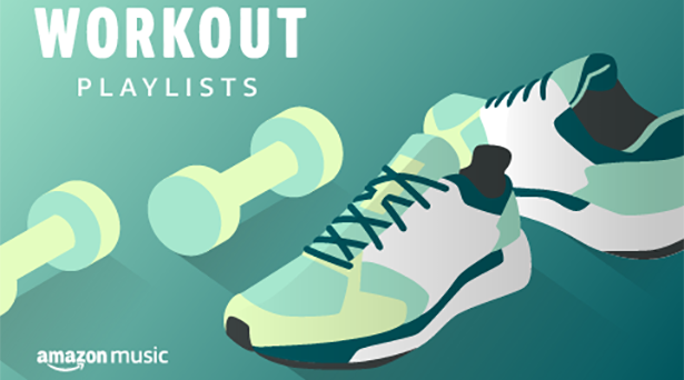 Workout playlists on Amazon Music
