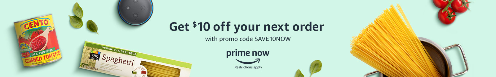 Amazon Prime Now Promotion: $10 Off $35+ With Promo Code