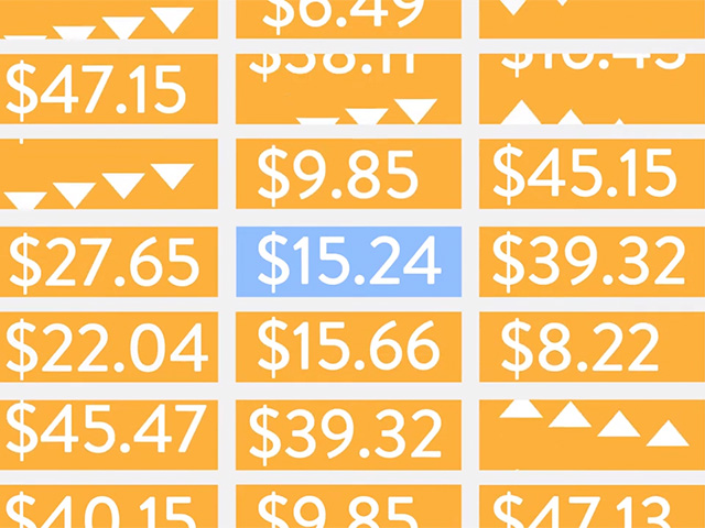 illustration of pricing changes