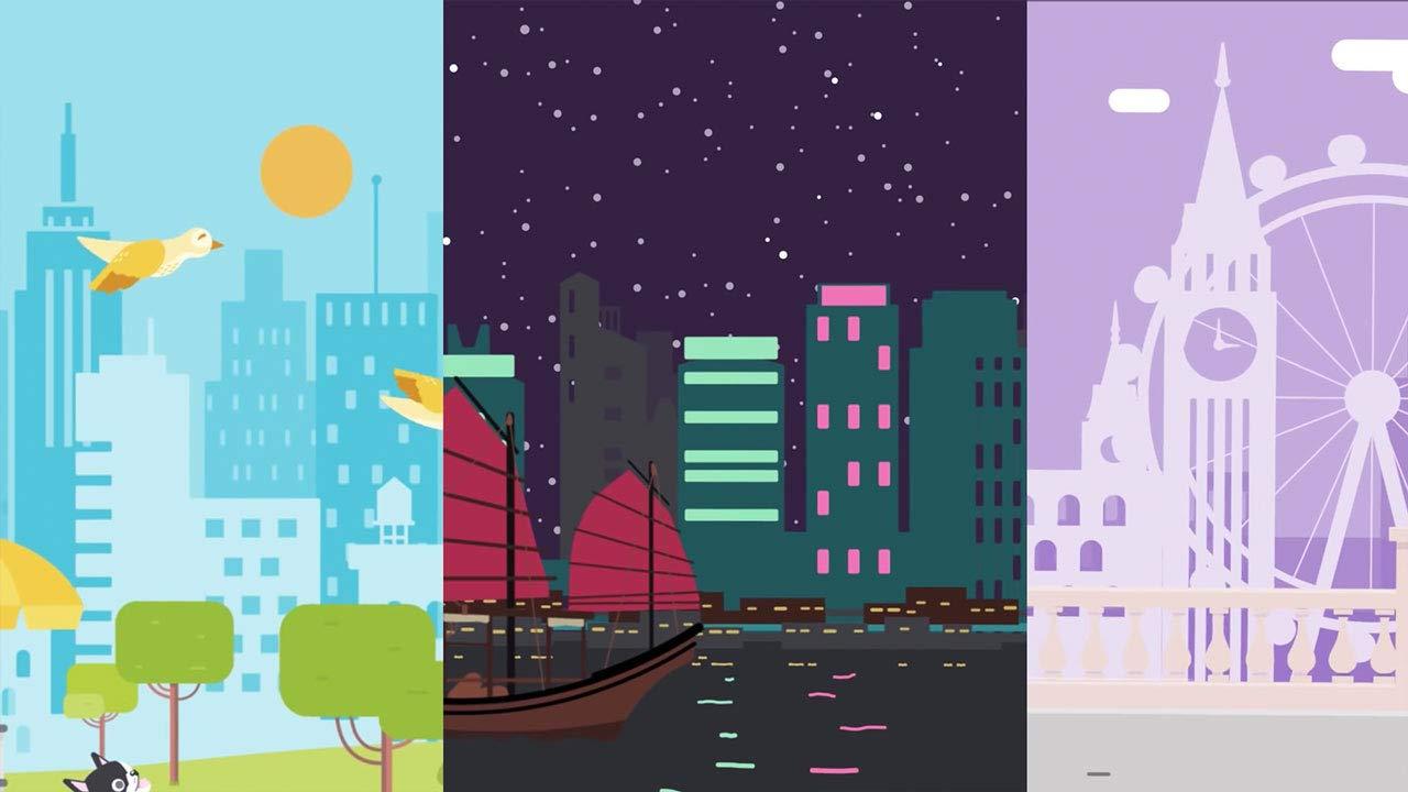 显示全球各地城市插图的视频缩略图