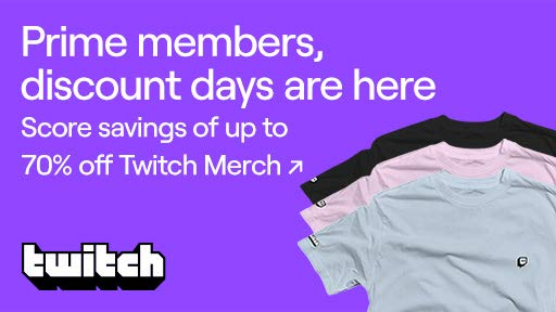 Up to 70% off Twitch Merch