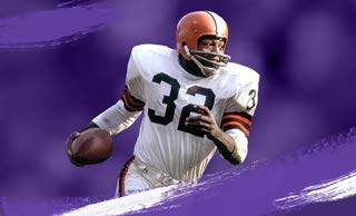 Jim Brown Legend with the 'Freight Train' X-Factor.