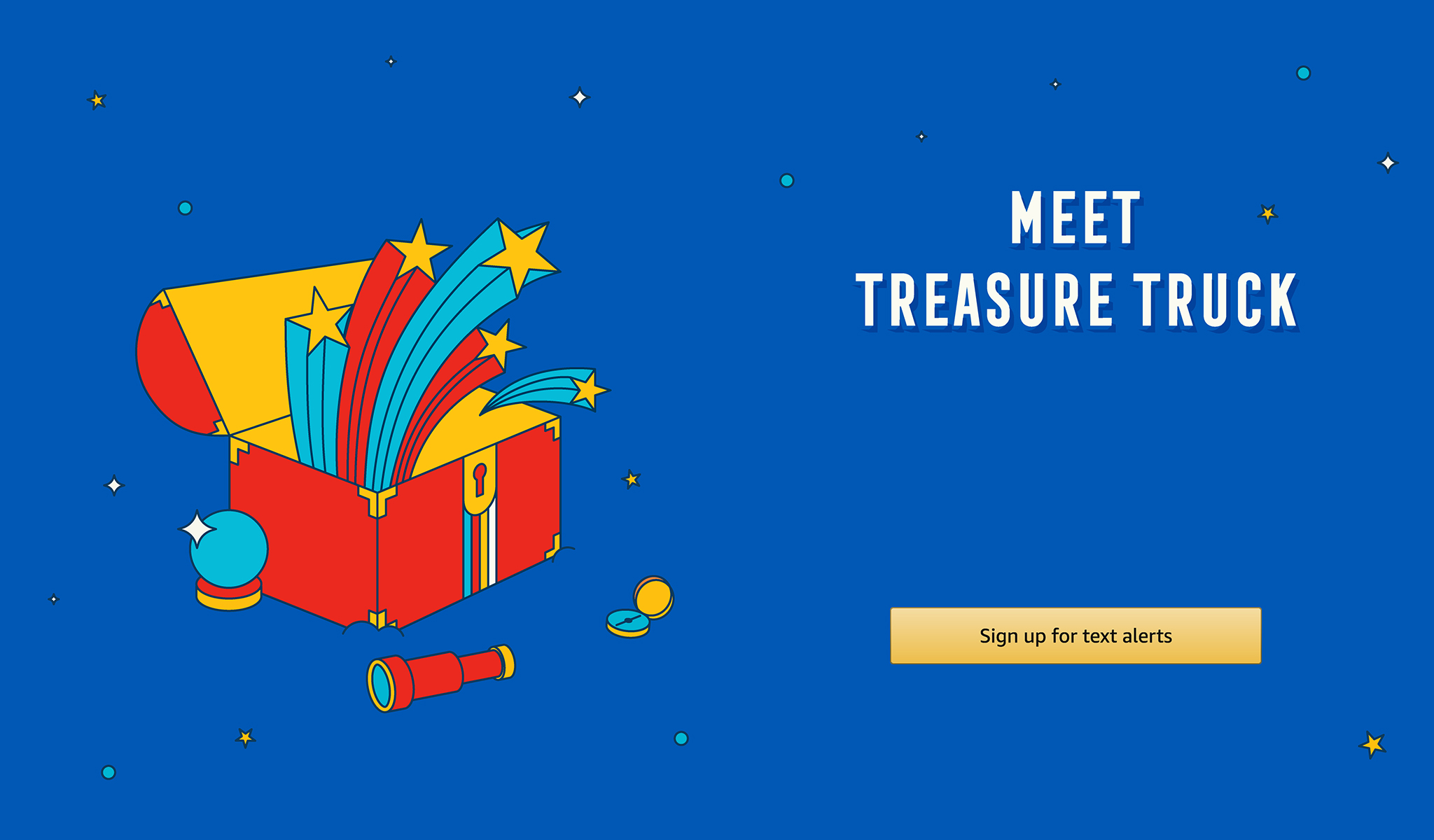 Meet Treasure Truck. Sign up for text alerts.