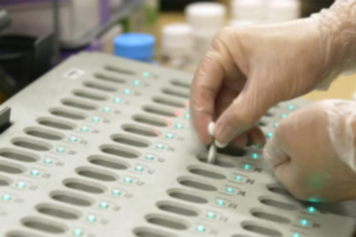 Amazon Pharmacy associate sorting medication