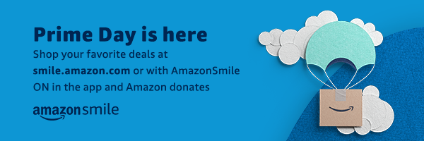 Prime Day is here. Shop your favorite deals at smile.amazon.com or with AmazonSmile ON in the app and Amazon donates