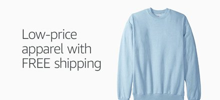 Low-price apparel with FREE shipping