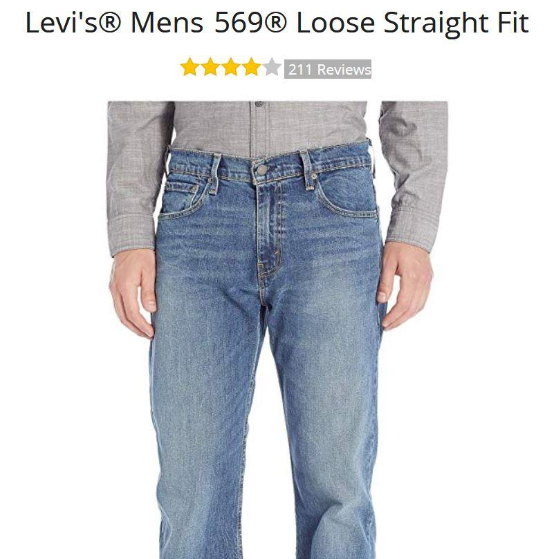 a6df3cf6 Levi's® Mens 569® Loose Straight Fit at Zappos.com