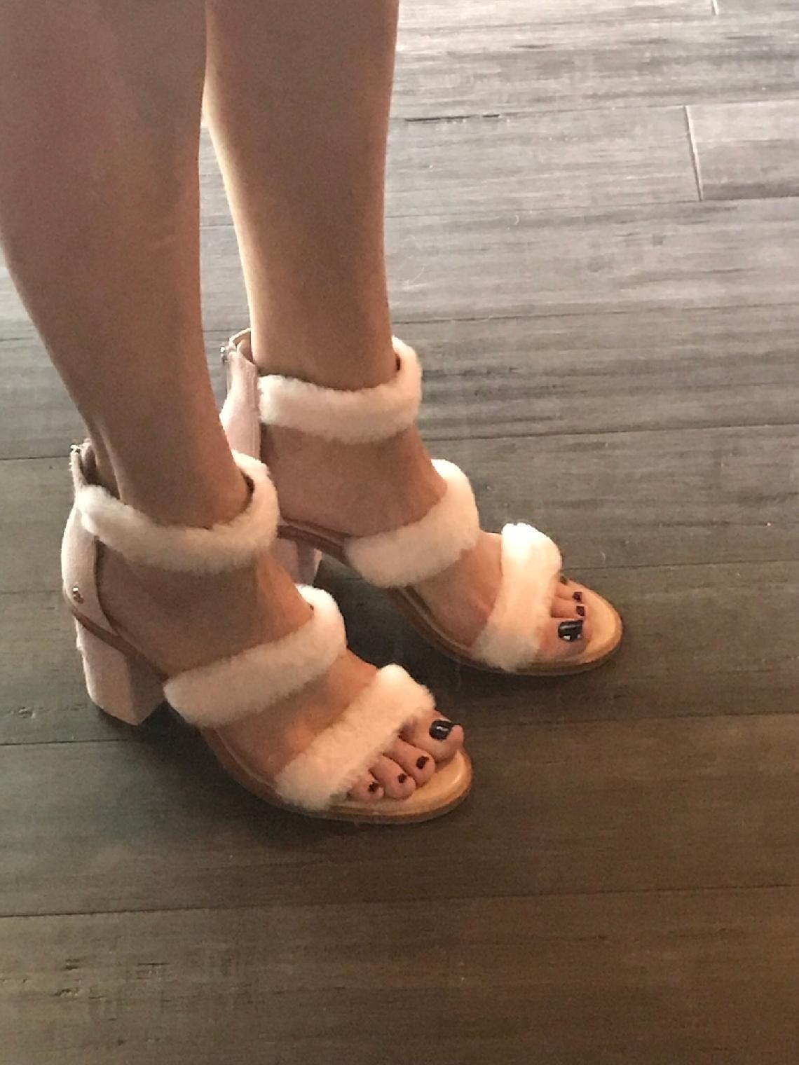 a3d83afe4b4 UGG Del Rey Fluff Heel   Zappos.com